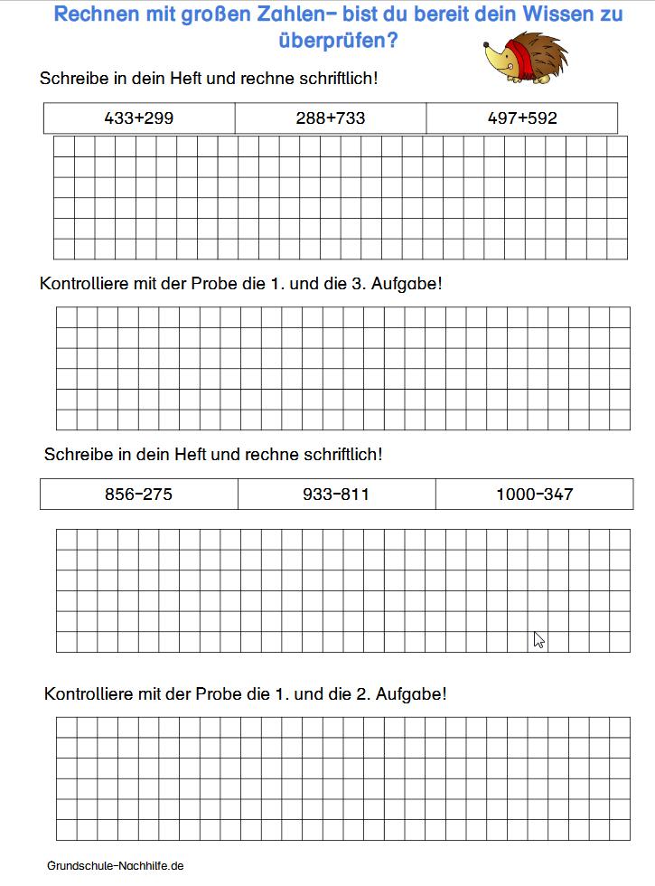 mathe probe 3. klasse