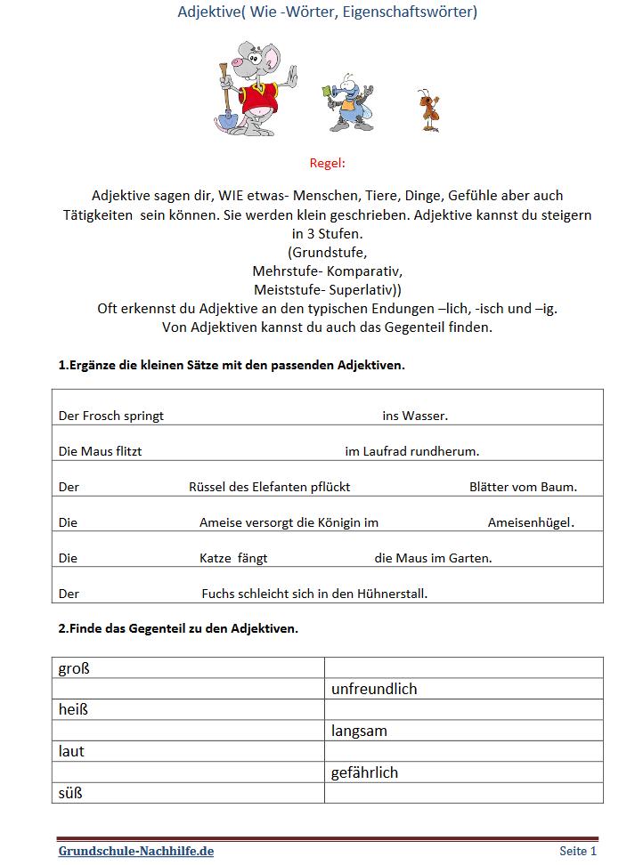 Grundschule Nachhilfe De Arbeitsblatt Deutsch Klasse 2 3 4