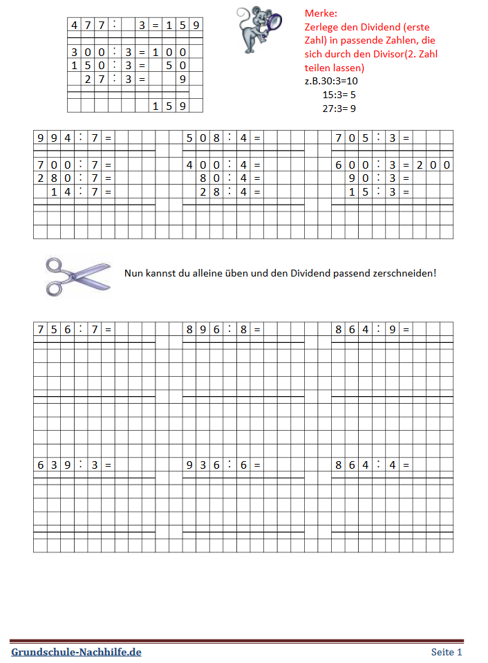 Grundschule Nachhilfe De Arbeitsblatt Mathe Klasse 4