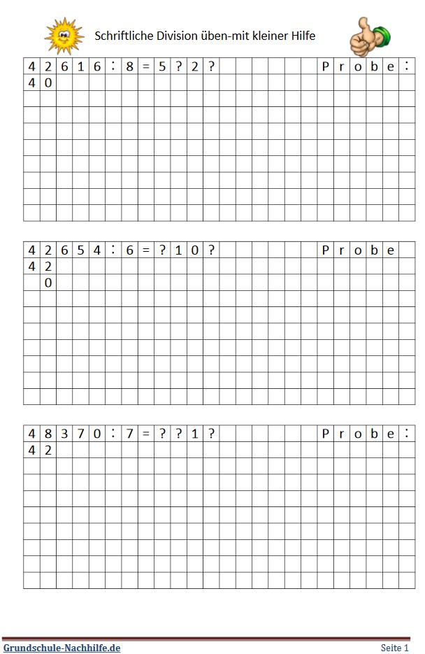 Grundschule Nachhilfede Arbeitsblatt Mathe Klasse 4