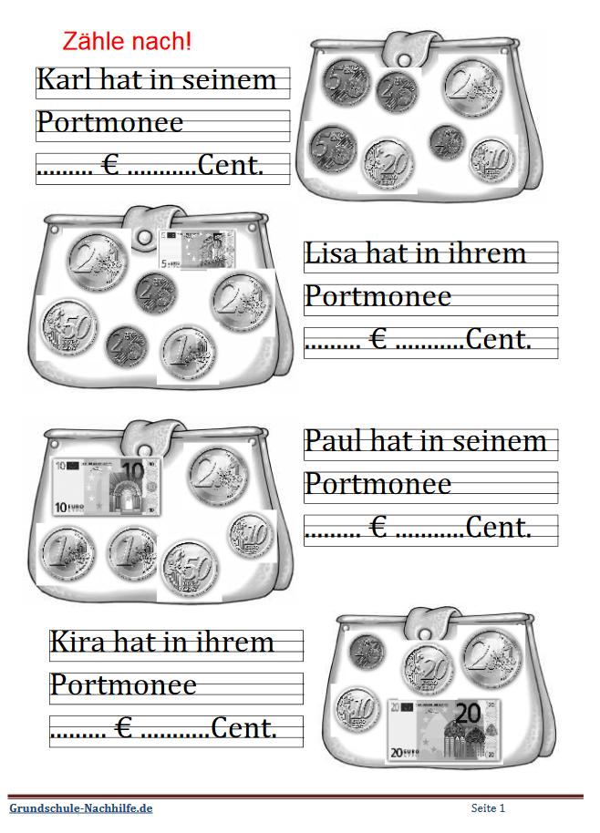 Grundschule Nachhilfede Arbeitsblatt Mathe Klasse 1 2