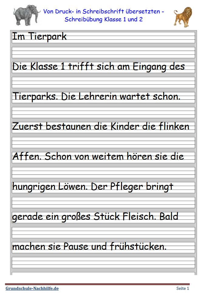Grundschule Nachhilfe De Arbeitsblatt Deutsch Klasse 1 Und