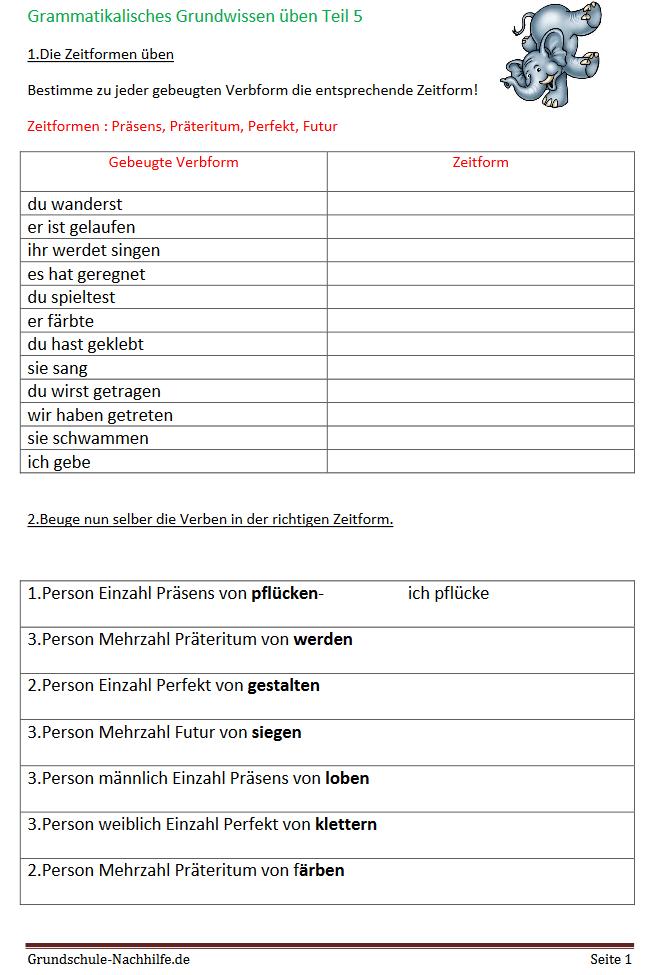 Grundschule Nachhilfede Arbeitsblatt Nachhilfe Deutsch