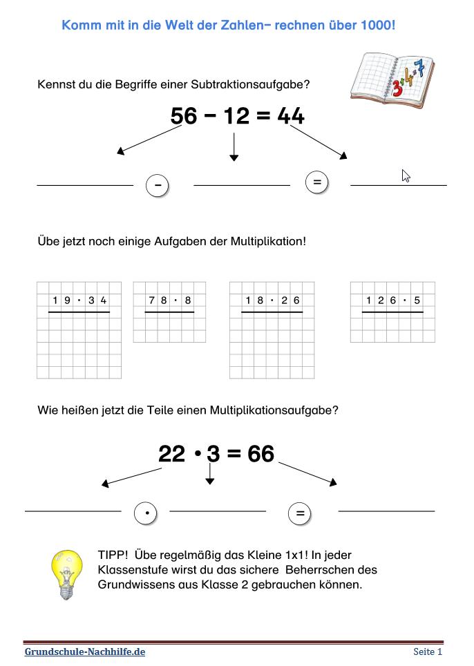 grundschule arbeitsblatt mathe klasse 3 zahlenraum bis 1000 erforschen teil 2. Black Bedroom Furniture Sets. Home Design Ideas